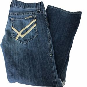 William Rast Billy Button Fly Distressed Jeans, 33